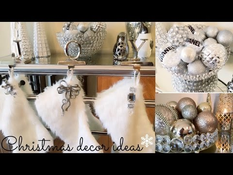 3 Christmas Decorating Ideas (pink, silver & gold)