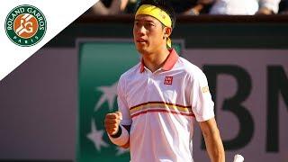 Kei Nishikori vs Gilles Simon - Round 3 Highlights I Roland-Garros ...