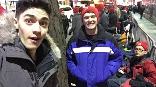 LIVE FROM THE MIDNIGHT NINTENDO SWITCH LAUNCH!!! FIRST IN LINE! NYC