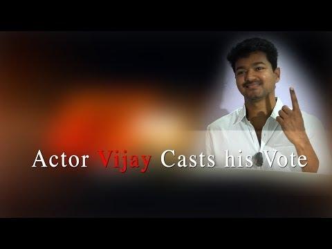 Actor Vijay Casts his Vote - RedPix24x7 தமிழகத்தில் இன்று காலை 7 முதல் மாலை 6 மணி வரை வாக்குப் பதிவு நடைபெற்றது.நடிகர்  விஜய் அடையாரு சென்னை மாநகராட்சி பள்ளியில் உள்ள வாக்குச் சாவடியில் காலை 10.25 மணிக்கு வாக்களித்தார்.  http://www.ndtv.com BBC Tamil: http://www.bbc.co.uk/tamil INDIAGLITZ :http://www.indiaglitz.com/channels/tamil/default.asp  ONE INDIA: http://tamil.oneindia.in BEHINDWOODS :http://behindwoods.com VIKATAN http://www.vikatan.com the HINDU: http://tamil.thehindu.com DINAMALAR: www.dinamalar.com MAALAIMALAR http://www.maalaimalar.com/StoryListing/StoryListing.aspx?NavId=18&NavsId=1 TIMESOFINDIA http://timesofindia.indiatimes.com http://www.timesnow.tv HEADLINES TODAY: http://headlinestoday.intoday.in PUTHIYATHALAIMURAI http://www.puthiyathalaimurai.tv VIJAY TV:http://www.youtube.com/user/STARVIJAY  -~-~~-~~~-~~-~- Please watch: