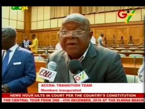 President John Mahama inaugurates Presidential Transition team