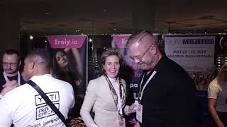 Eroiy at XBIZ in Los Angeles