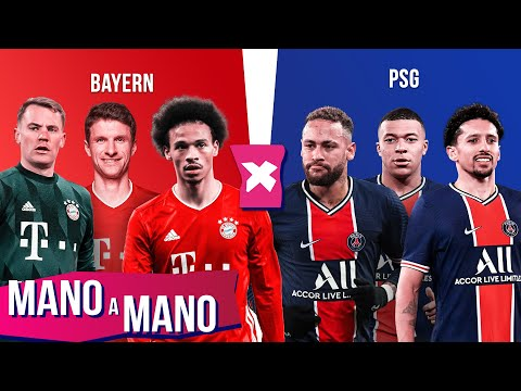 BAYERN DE MUNIQUE X PSG: QUARTAS DE FINAL DA CHAMPIONS LEAGUE - MANO A MANO