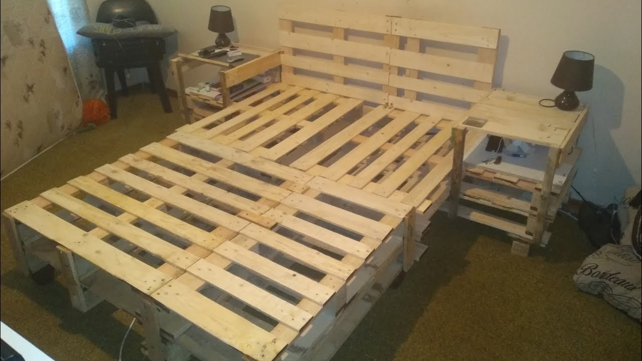 How To Build A Bed Out Of Pallets Youtube