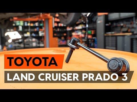 Как заменить тягу стабилизатора передней подвески TOYOTA LAND CRUISER PRADO 3 (J120)
