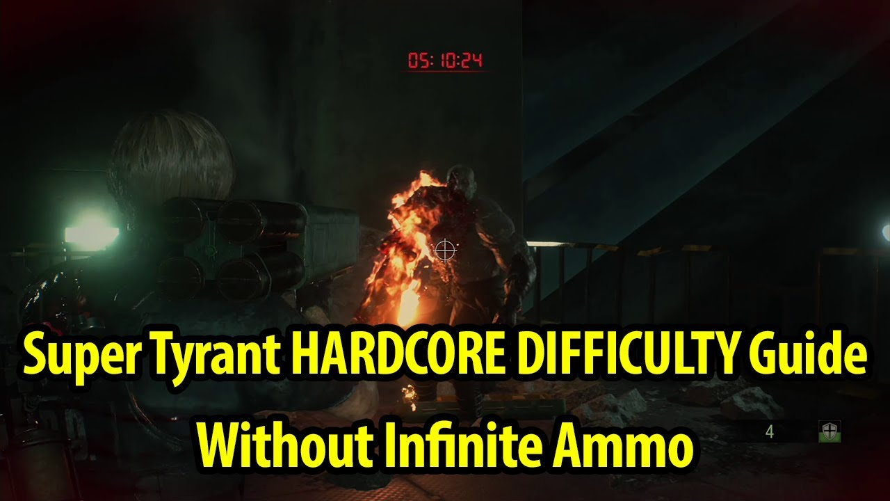 How To Defeat Super Tyrant Hardcore Difficulty No Infinite Ammo Resident Evil 2 Remake
