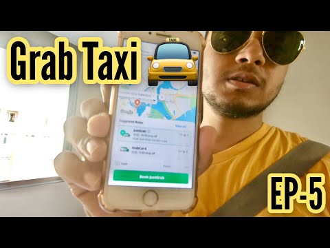 🤷🏻‍♂️ How to book Grab Taxi 🚖& it's Safe or Not | Singapore | in Hindi/Urdu |Ep-5|| 4k