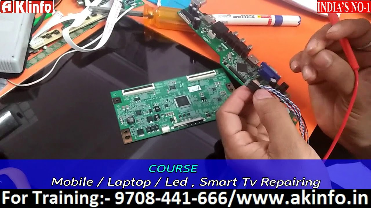 Tcon board & scalar PCB in Lcd /Led TVs & how to work t con board & what is  different between each