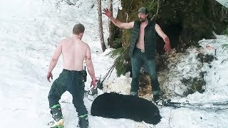 2 White Men caught red handed KILLING Mother bear and cubs illegally