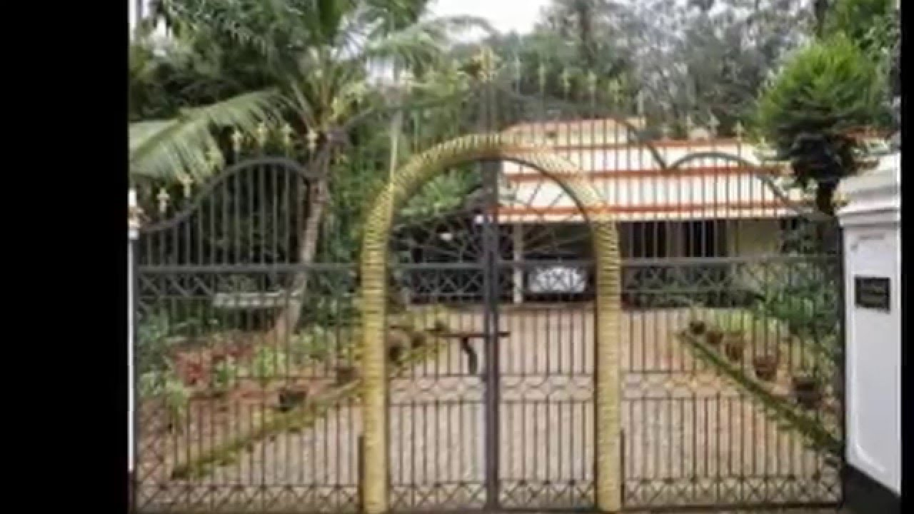 Gate Design Ideas window front gates had gained popularity these days these gates are simple gates that have windows slightly above the middle to view the person who is Kerala Gate Design Ideas