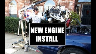 1986 Mustang GT Project - Engine and Clutch Install - Engine Swap Part 10