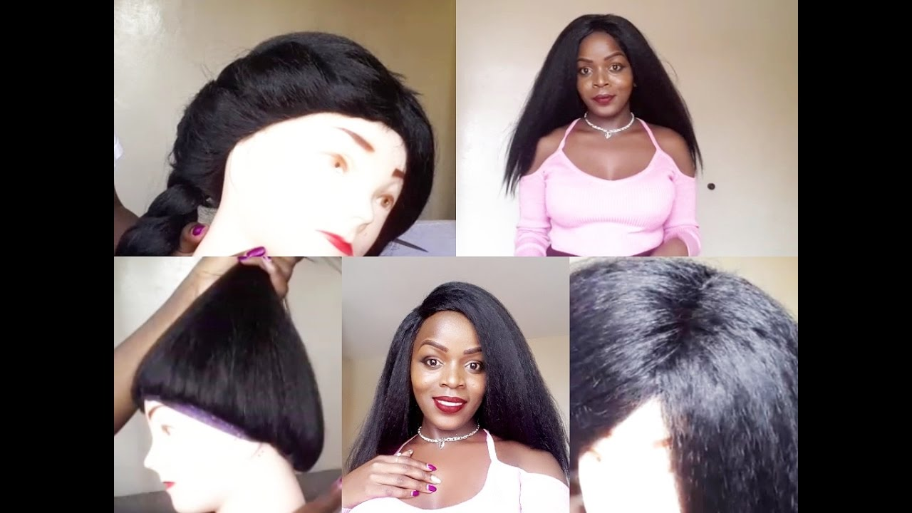 How To Make A Full Wig Without A Closure - YouTube ae3ca0c291