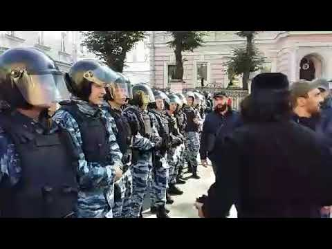 В Москве у посольства Мьянма митинг Мусульман, где Мусульмане против геноцида Мусульман Буддистами