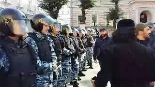 Скачать В Москве у посольства Мьянма митинг Мусульман где Мусульмане против геноцида Мусульман Буддистами