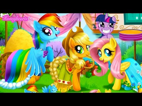 Baking With Twilight & Applejack + Horse Jumping - Let's Play Online Games - Honeyheartsc