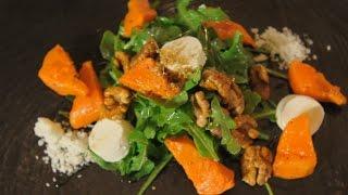 Салат из тыквы, рукколы и феты. Рецепт от шеф-повара.