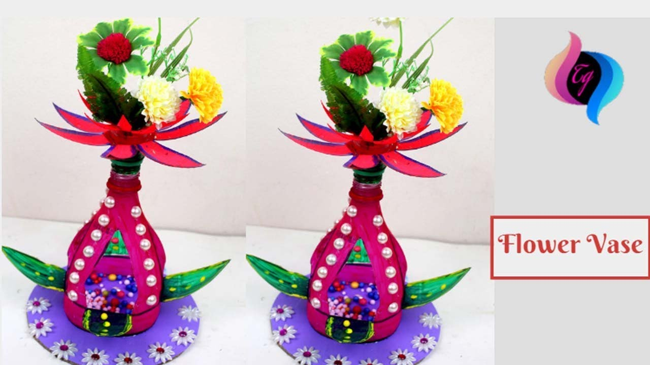 How To Make Flower Vase With Plastic Bottle Things Made Out Of Bottles