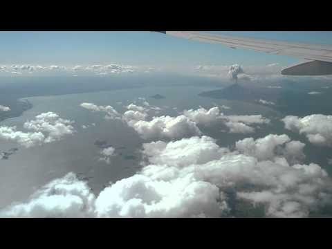 Momotombo Volcano in Nicaragua Erupting From The Air (longer version from further away)