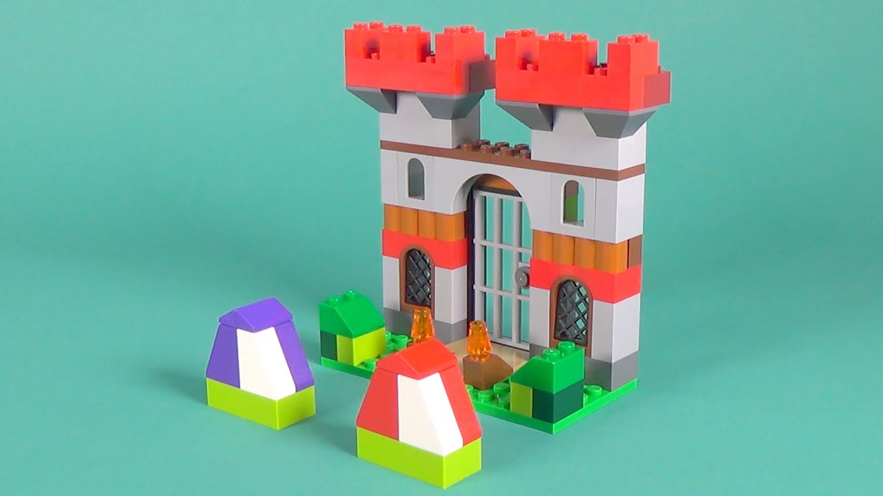Lego castle building instructions lego classic 10698 for Modele maison lego classic