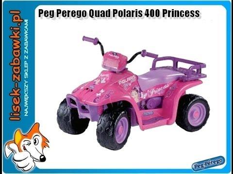 quad peg perego polaris 400 princess spielzeug f r kinder. Black Bedroom Furniture Sets. Home Design Ideas