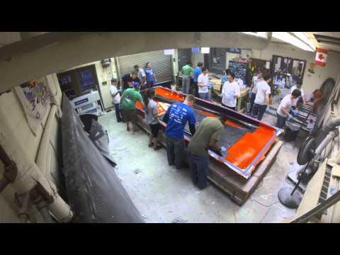 University of Kentucky Solar Car Gato V Bottom Shell Layup 1