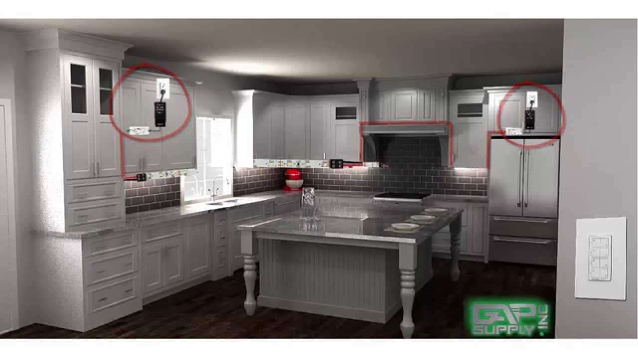 Under cabinet lighting layout guide