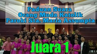 JUARA 1 PESPARANI Tk Kota Kupang  OMK Paroki Sta Maria Assumpta