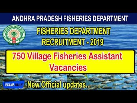 AP Fisheries Department Recruitment 2019 II AP Fisheries Jobs II 750 Vacancies