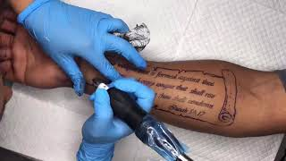 Bible Verse/ Scroll Tattoo Time Lapse | TATTOOS BY HER