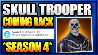 HOW TO UNLOCK SKULL TROOPER IN FORTNITE BATTLE ROYALE (Is the BLOCKBUSTER Skin a Skull Trooper v2)
