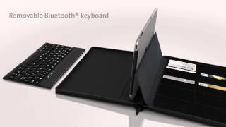 kensington keyfolio executive zipper folio with keyboard for ipad air backlit animation