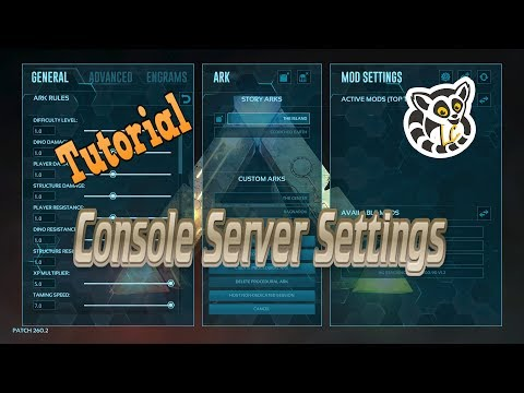Ark: Survival Evolved - Console Server Settings *Current* - YouTube