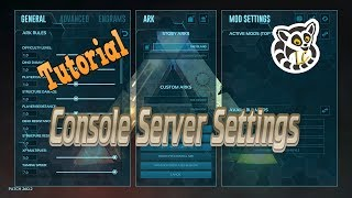 Ark: Survival Evolved - Console Server Settings *Current*