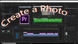 Creating a Photo by Extracting a Video Frame in Adobe Premiere
