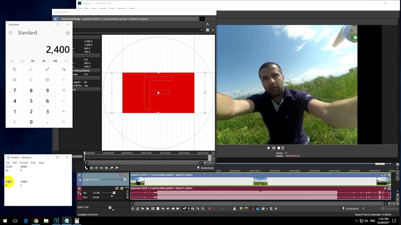 How to Change the Aspect Ratio of a Video in Vegas Pro (16:9 into 4:3,  Superview to Original)