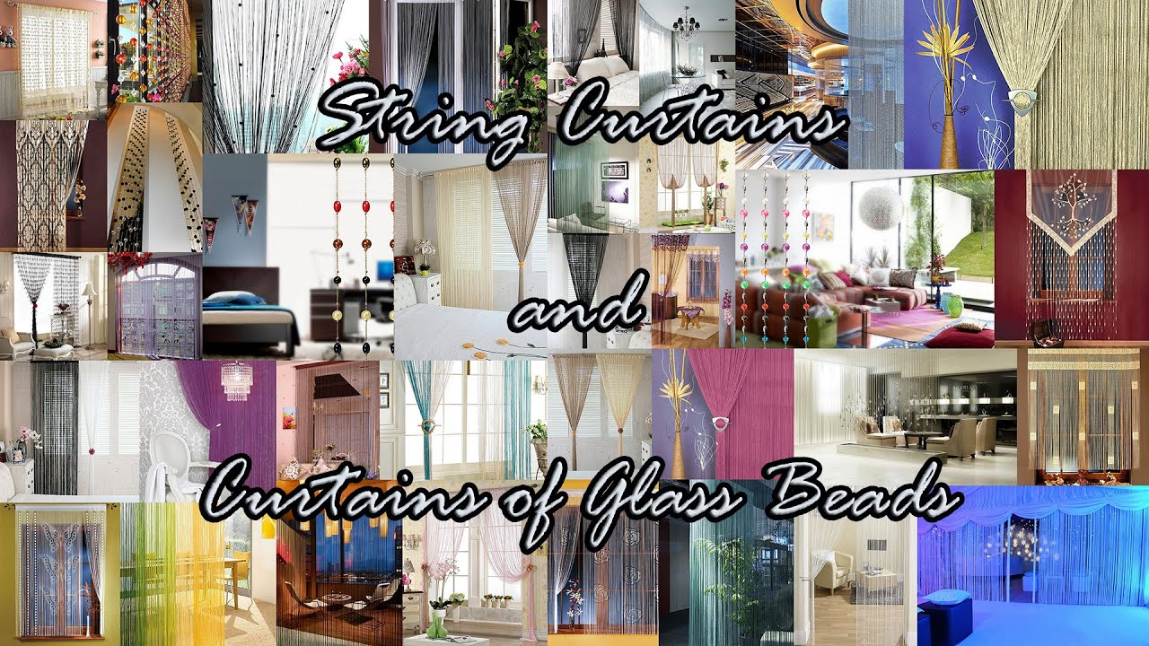 Beaded string curtains - String Curtains And Curtains Of Glass Beads