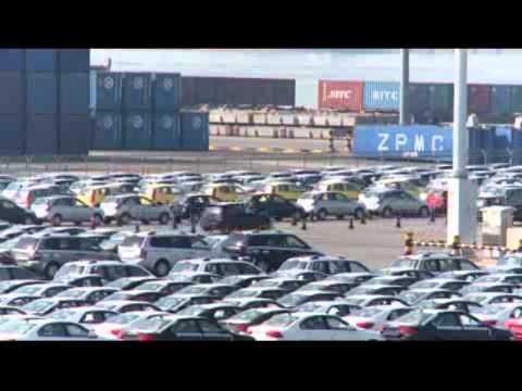 Kia's main shipping port in Pyeongtaek, South Korea