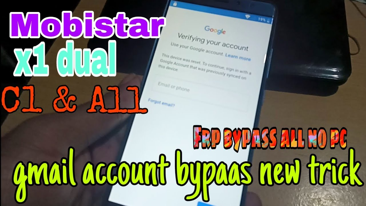 Mobistar X1 dual ,c1 and all model gmail account bypass | How to reset frp  mobistar x1 dual