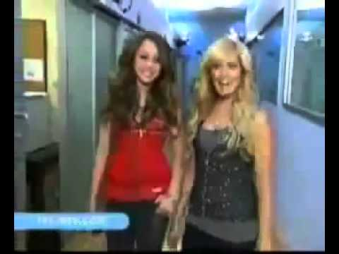 Miley Cyrus And Ashley Tisdale On TRL 2006