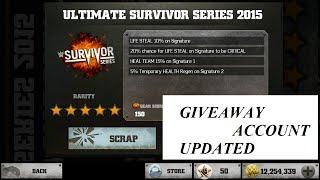 106.WWE IMMORTALS SURVIVOR GEAR GIVEAWAY