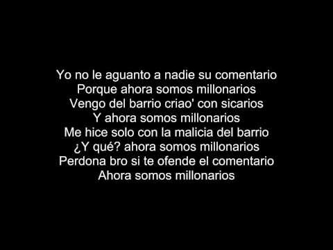 Millonarios - Daddy yankee Ft. Arcangel (Letra / lyrics)