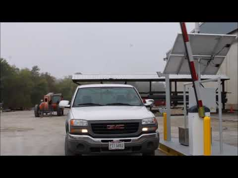 2017 Solar Powered Vehicle Access Control Gate Demo Video