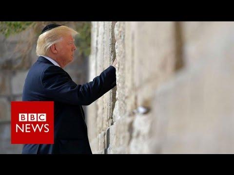 Trump visits Western Wall in Jerusalem - BBC News