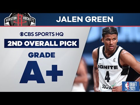 Jalen Green Selected No. 2 Overall by the Houston Rockets   2021 NBA Draft   CBS Sports HQ