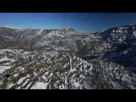 World Longest Aerial Tramway - Wings Of Tatev (whole Flight)