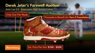 New York Yankees Derek Jeter Farewell Auction Showcases $10K Nike Sneakers