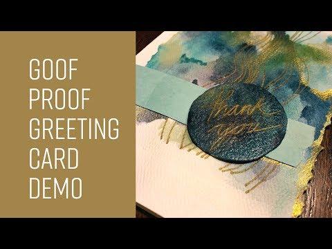 Cheap Joe's 2 Minute Art Tips - Goof Proof Greeting Card Demo