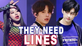 K-POP IDOLS THAT NEED MORE LINES - PART 2  / Idols Que Necesitan Más Líneas
