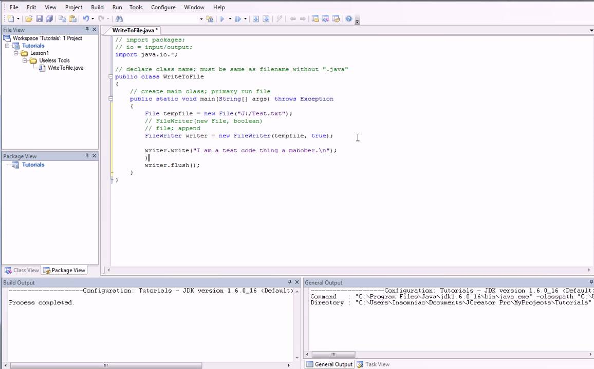 Java Programming (FileWriter Quick Tutorial) - YouTube