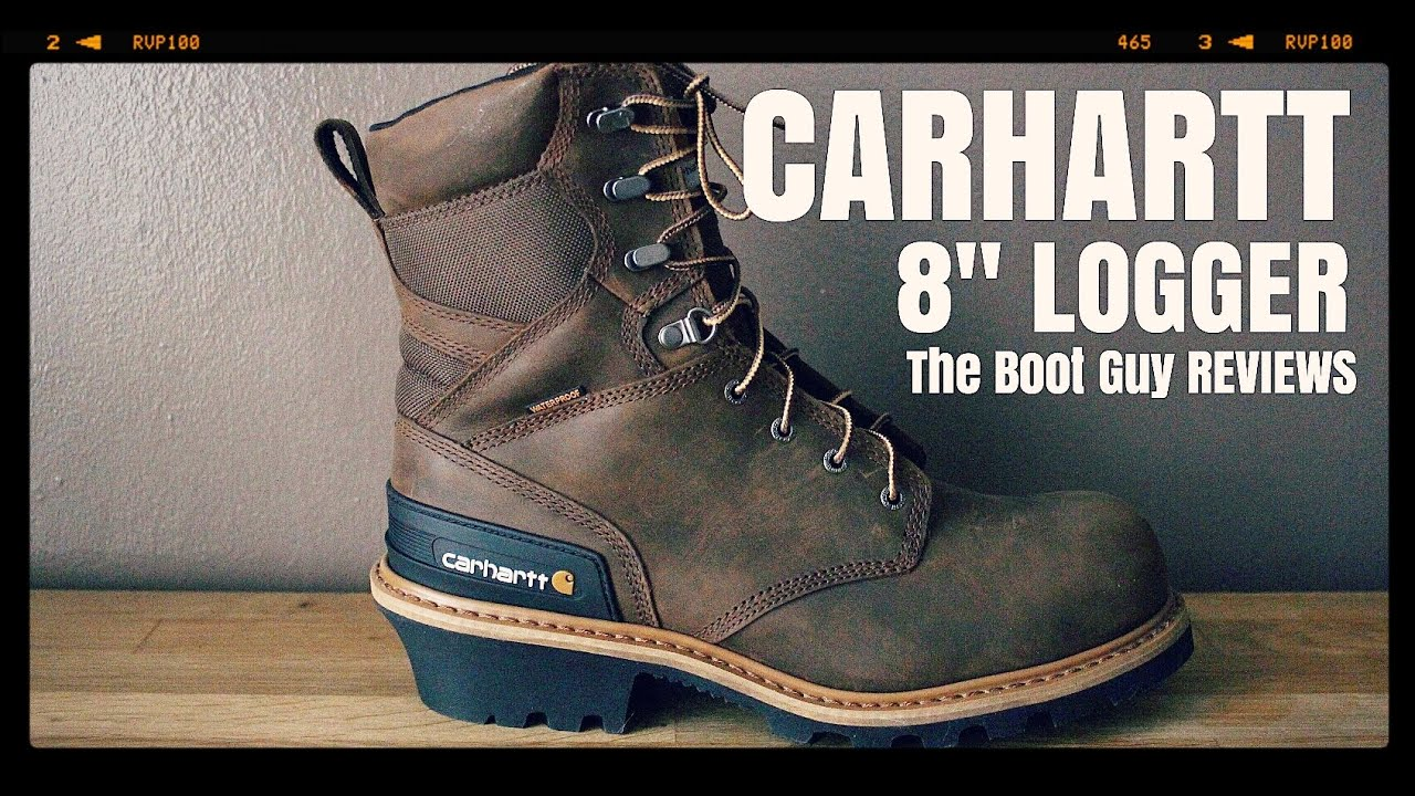 24462ee9182 CARHARTT 8-INCH SAFETY TOE LOGGER BOOT STYLE #CML8360 [ THE BOOT GUY REVIEW  ]